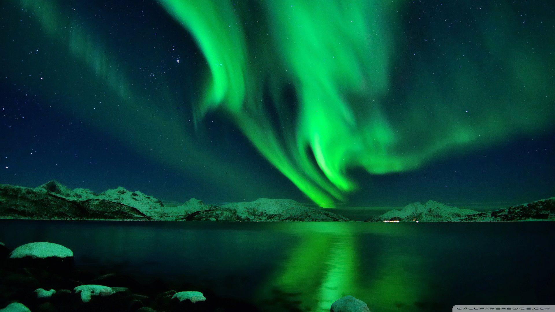 Aurora Green Wallpaper 1920x1080 Jpg 1920 1080 Northern Lights Landscape Pictures World Of Color