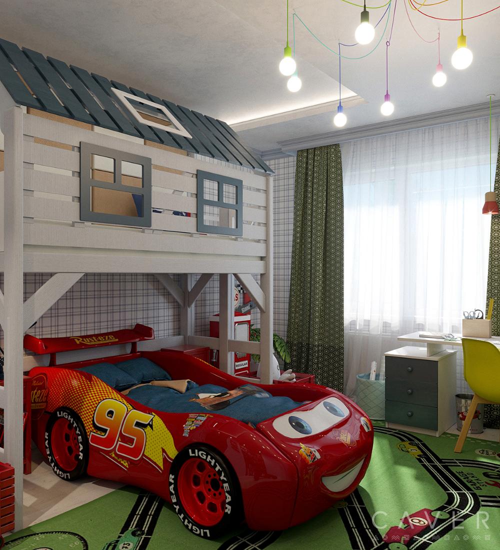 Hk Kids Room Lightning Mcqueen On Behance Lightning Mcqueen Bedroom Kids Room Little Boy Bedroom Ideas