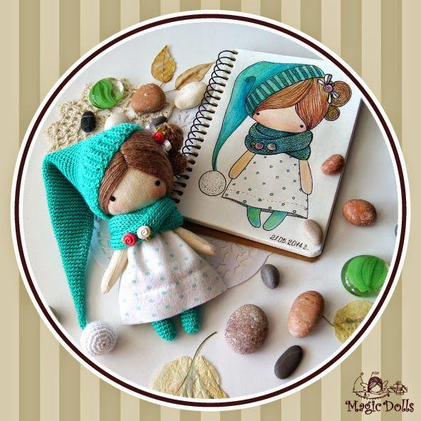 magicdolls: Crochet dolls Ma Petite Poupee - Emerald Gnome