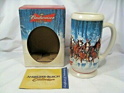 Anheuser Busch 2020 Christmas Stein Ad eBay Url) Budweiser Anheuser Busch 2007 Christmas Stein CS678 w