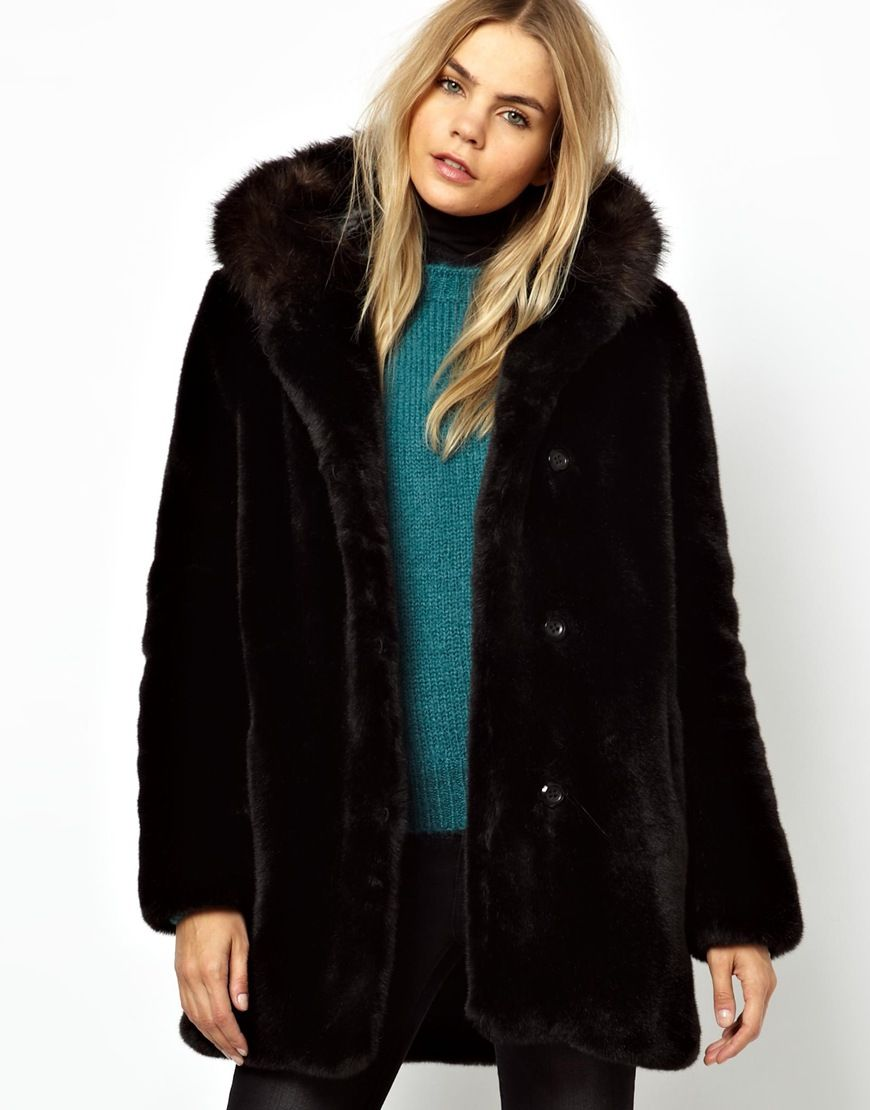 Parka London Hazel Faux Fur Coat with Contrast Fur Hood | Fashion ...