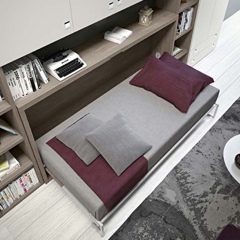 Letto singolo a scomparsa orizzontale Nikai - CLEVER.IT | TransForm ...