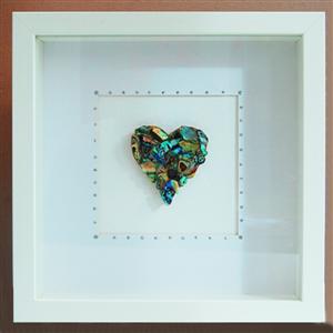 Box Frame Single Heart 17th wedding anniversary, 17th