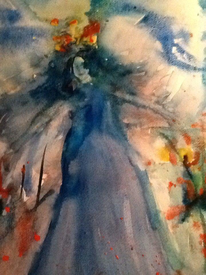 Nainen akvarelli