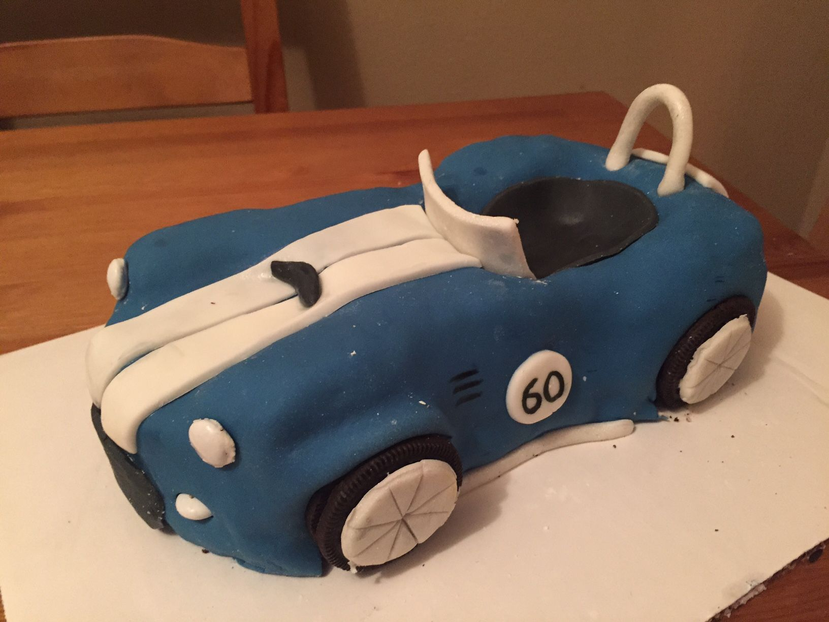 Shelby Cobra cake for 60th birthday My homemade cakes Pinterest