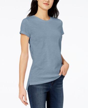 maison Jules Womens Bow Detail Basic T-Shirt
