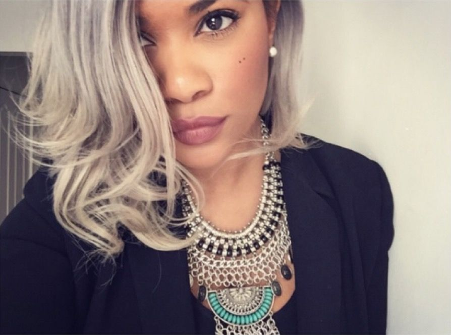 with Young trend women gray hair