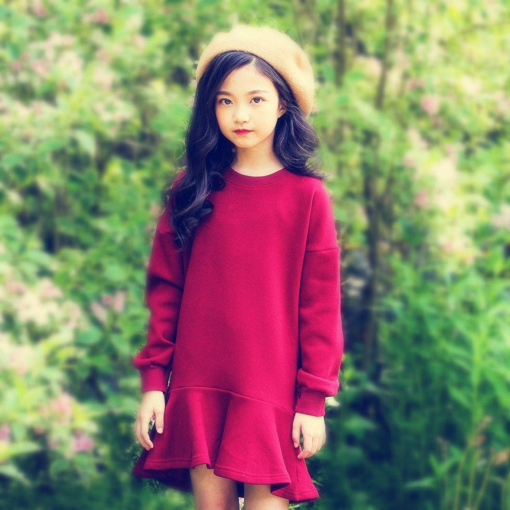 Find More Dresses Information about Girls Winter Dress Fleece