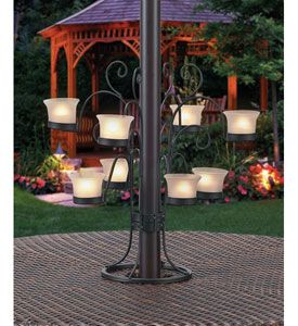 Patio Umbrella Eight Votive Candle Holder Fits Perfectly Around