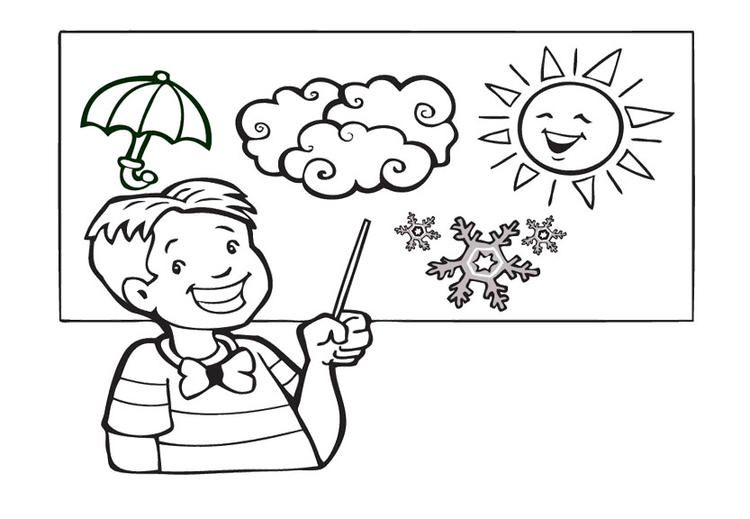 Weather Coloring Pages Weatherman   Super coloring pages ...
