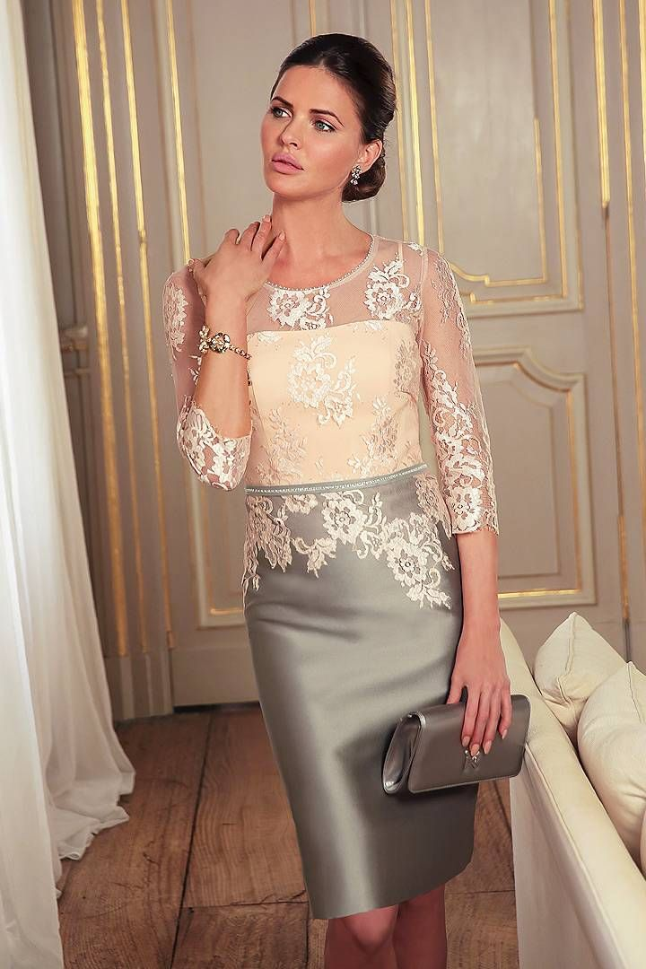 ce80f12f593c Linea Raffaelli - Stunning jacket   dress combination in silver grey  jacquard. Perfect for a mother of the bride   groom