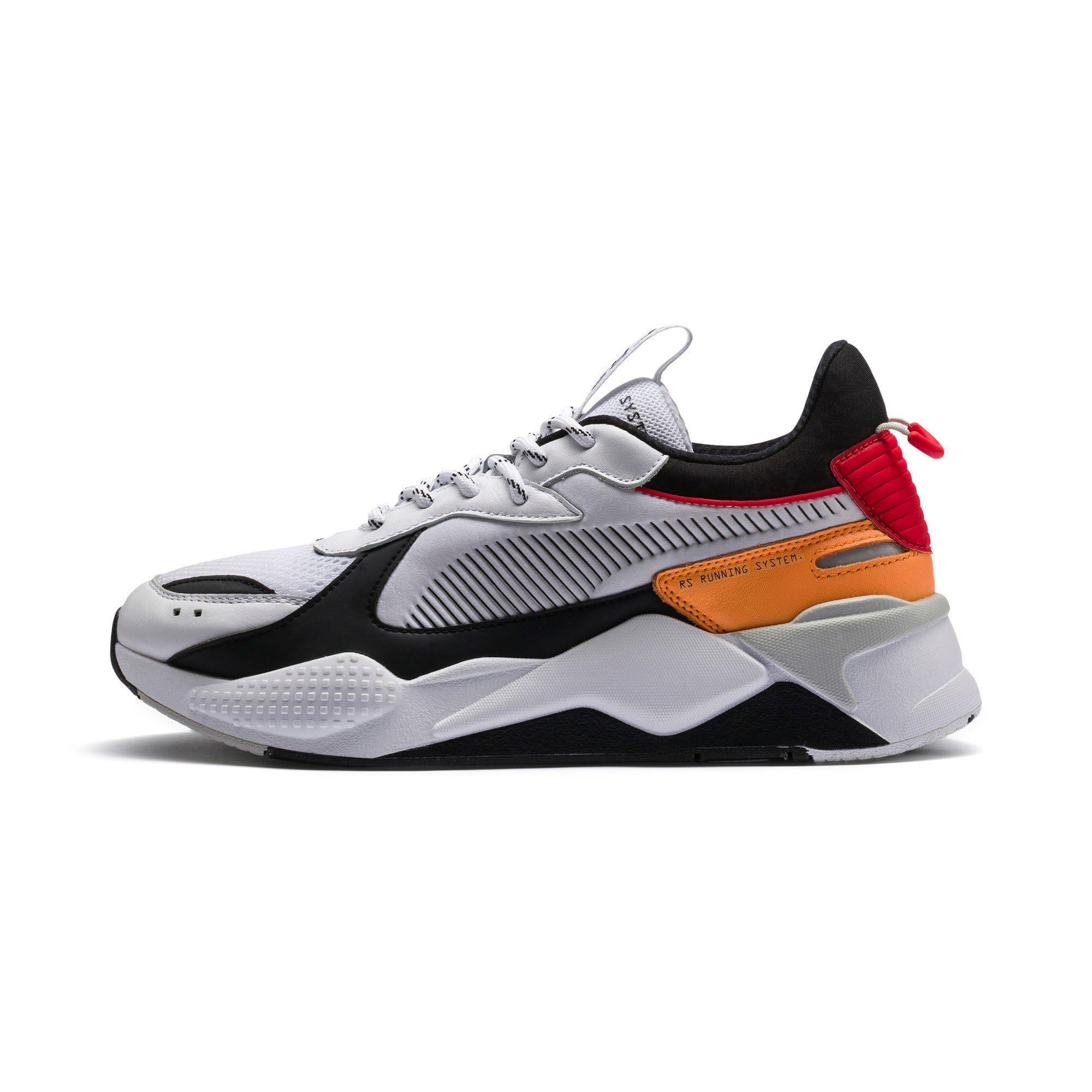 PUMA Chaussure Basket RS-X Tracks, Blanc/Noir, Taille 44.5 ...