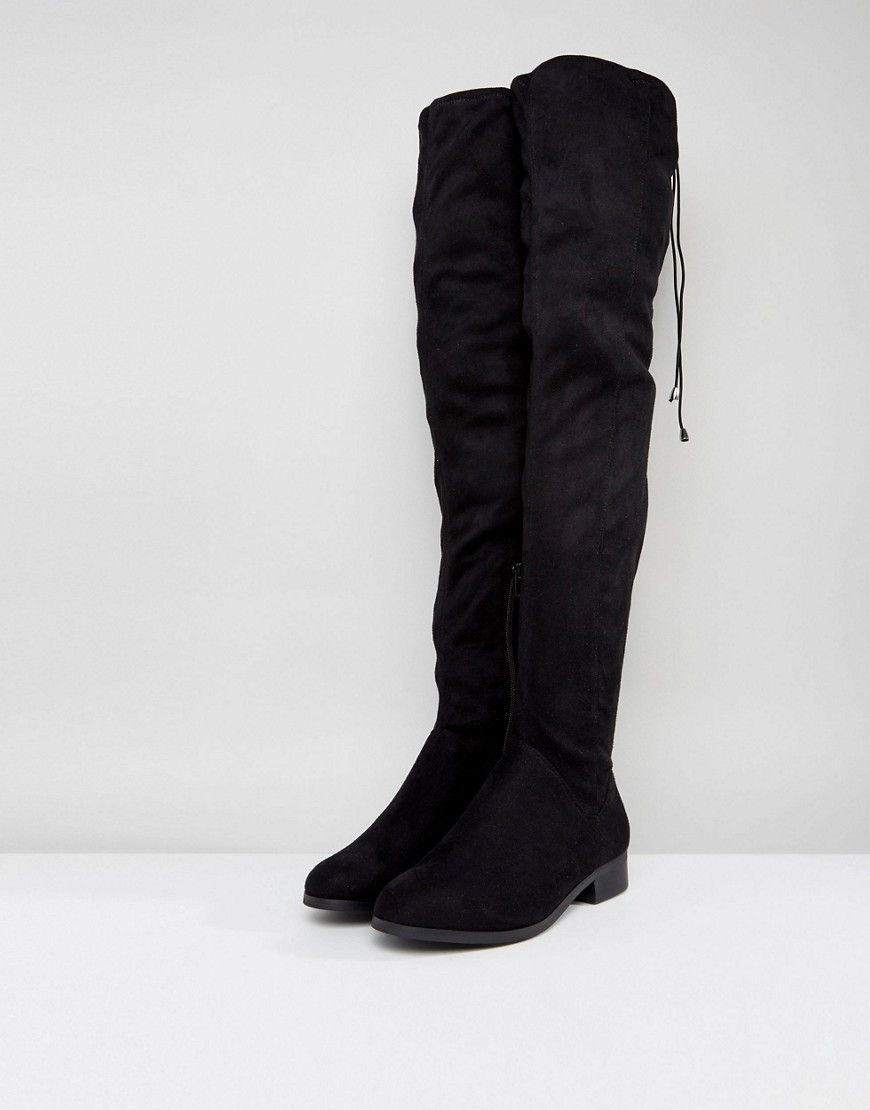 0a3eabc8d4990 KEEP UP Wide Fit Extra Wide Leg Over The Knee Boots | mist | Boots ...