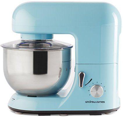 andrew james 1300 watt electric food stand mixer in pastel blue includes 2 year warranty andrew james 1300 watt electric food stand mixer in pastel blue      rh   pinterest com