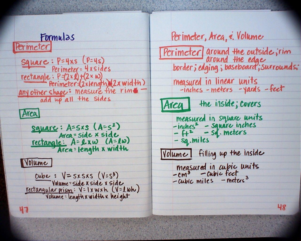 Perimeter Area And Volume 1 280 1 024 Pixels