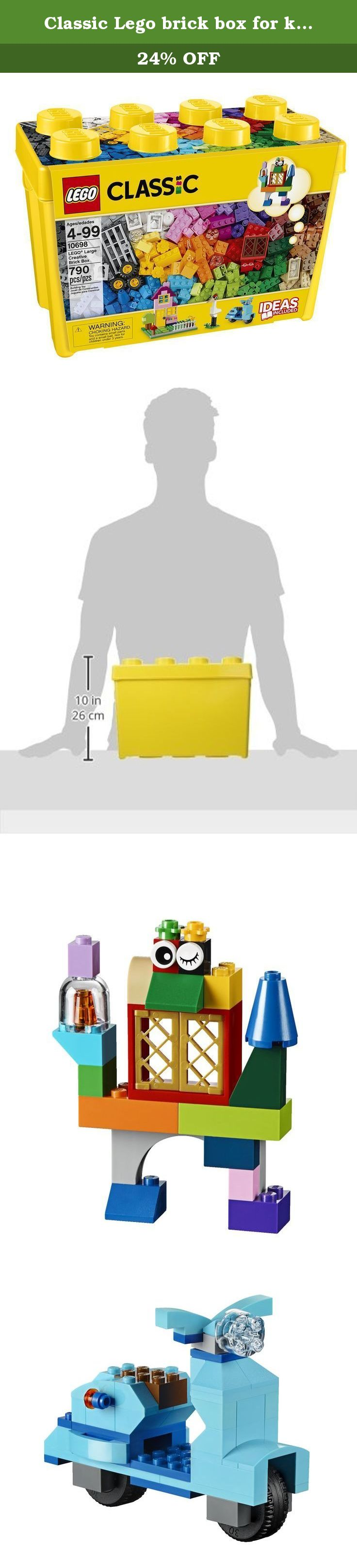 Classic Lego brick box for kids of all ages even the ones inside