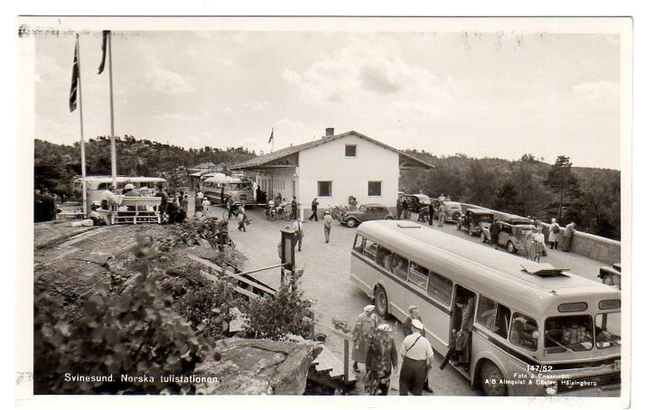 Østfold fylke Halden kommune Svinesund tollstasjon 1940-tallet Utg Almquist & Cöster, Hälsingborg