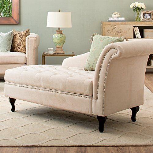 Storage Chaise Lounge Luxurious Tufted Classic/traditional Style By Castleton  Home Modern Long Chair/