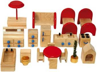 doll house furniture sets. wooden doll house furniture set made in usa sets r