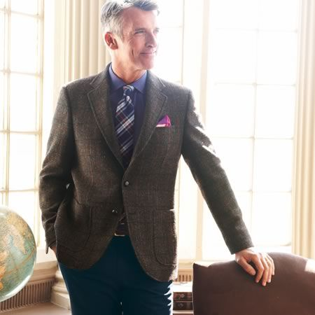 d2d65941 Dark green check harris tweed classic fit jacket | Men's sport coats &  blazers from Charles Tyrwhitt | CTShirts.com