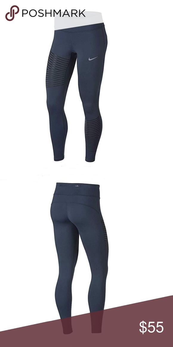 Nike Women s Epic Run Tight Fit Full length pants NEW WITH TAGS! Nike  Women s Epic Run Tight Fit Yoga Running Pants Size – XL Color – Blue Style   856682-471 ... 9396da8cfecd