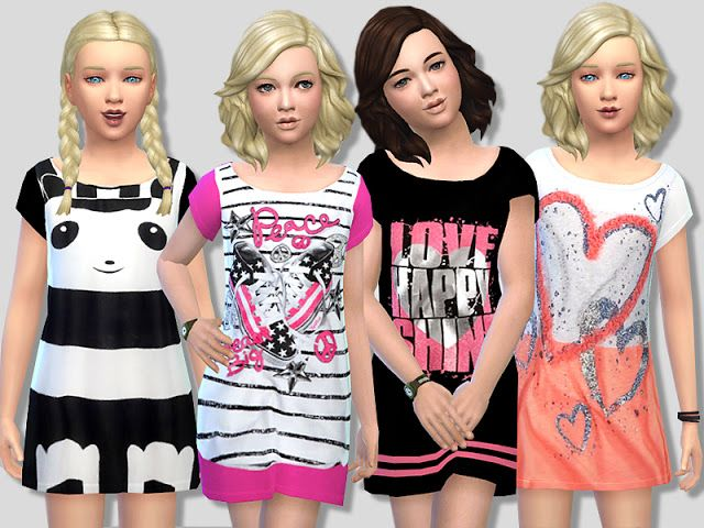 33d407e55 Sims 4 CC s - The Best  Summer Dress Set for Girls by ...