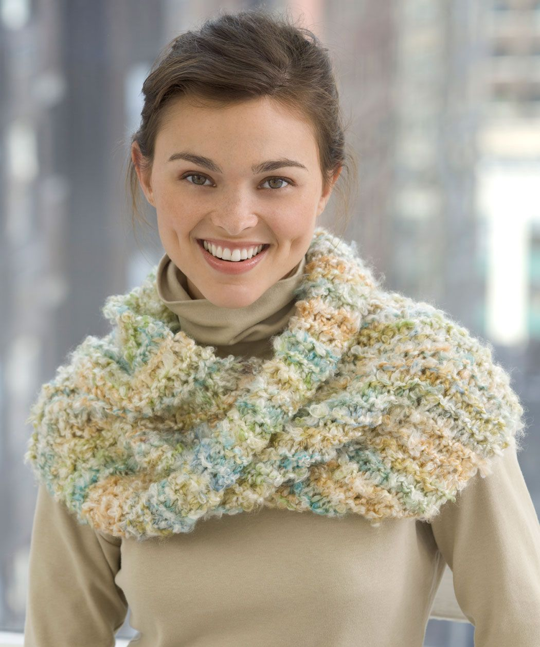 Free Irish Knitting Patterns : red heart free crochet cowl infinity shawls pattern Cowl Knit Mobius Scarf ...