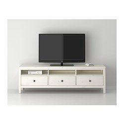 Hemnes Tv Unit White Stain Ikea 72x19 14 Living Room