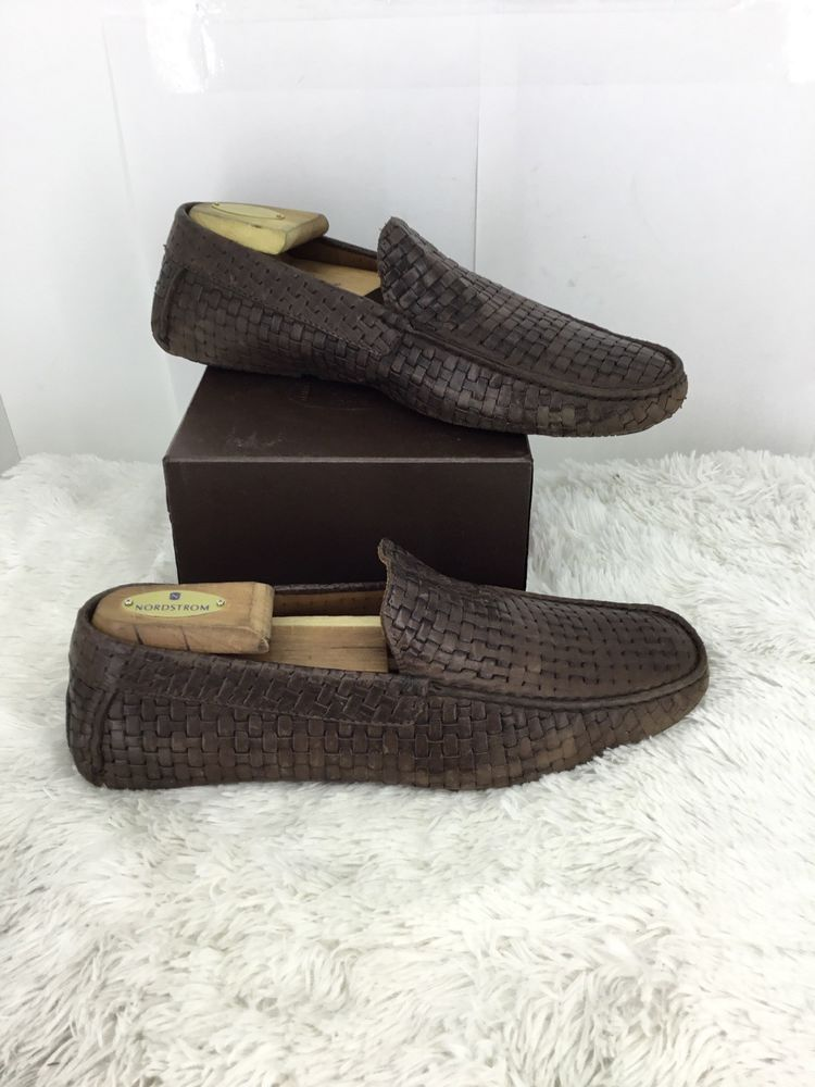 25e053acf34 AQUATALIA Mens Woven Loafers In Brown Size 8  fashion  clothing  shoes   accessories