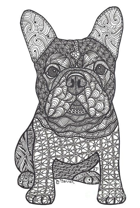 For The Love French Bulldog Art Print by Dianne Ferrer