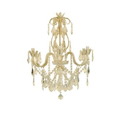 Can't wait to install this Hampton Bay Heritage Antique White Chandelier  above the bed - Can't Wait To Install This Hampton Bay Heritage Antique White