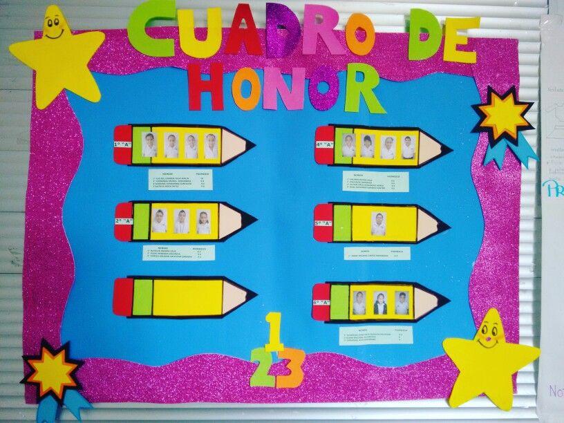 Cuadro de honor de foamy cuadro de honor decoracion de - Que cuadros poner en el salon ...