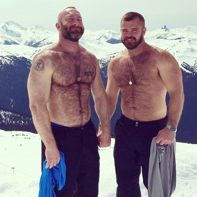 gaybears_bearweek365: Muscle Bear Mountain! With @musclemountainlion @stof604 #bearweek365 # ...