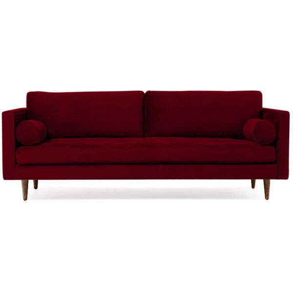 Joybird Briar Mid Century Modern Red Sofa 1 319 Liked On Polyvore Featuring Home Furniture Sofas Midcentury Style