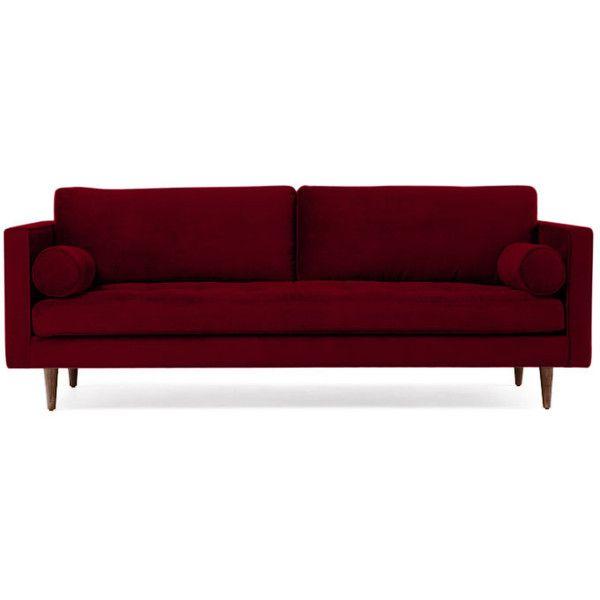 Joybird Briar Mid Century Modern Red Sofa 1 279 Liked On