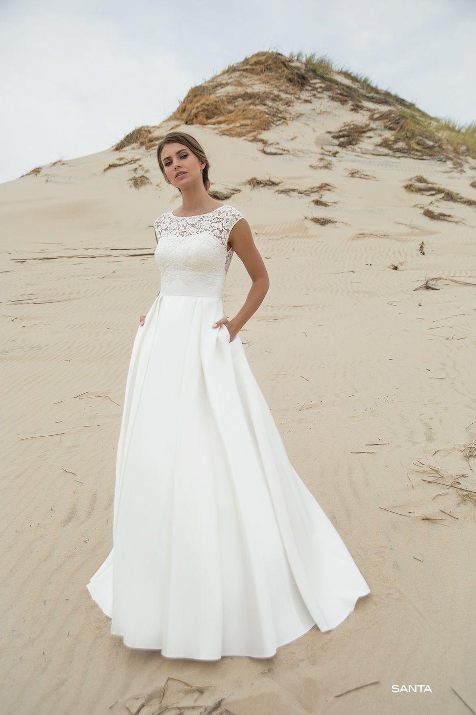 Brautkleid Le Rina  Kleider hochzeit, Brautkleid schlicht