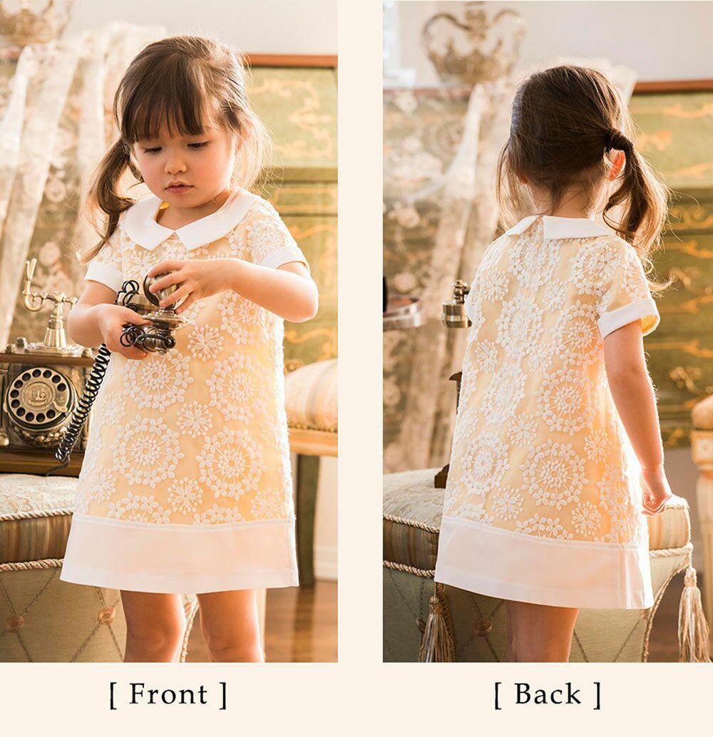 4617403bef4ed  楽天市場 子どもドレス 女の子 花柄刺繍白襟 ワンピース   キッズ ピアノ