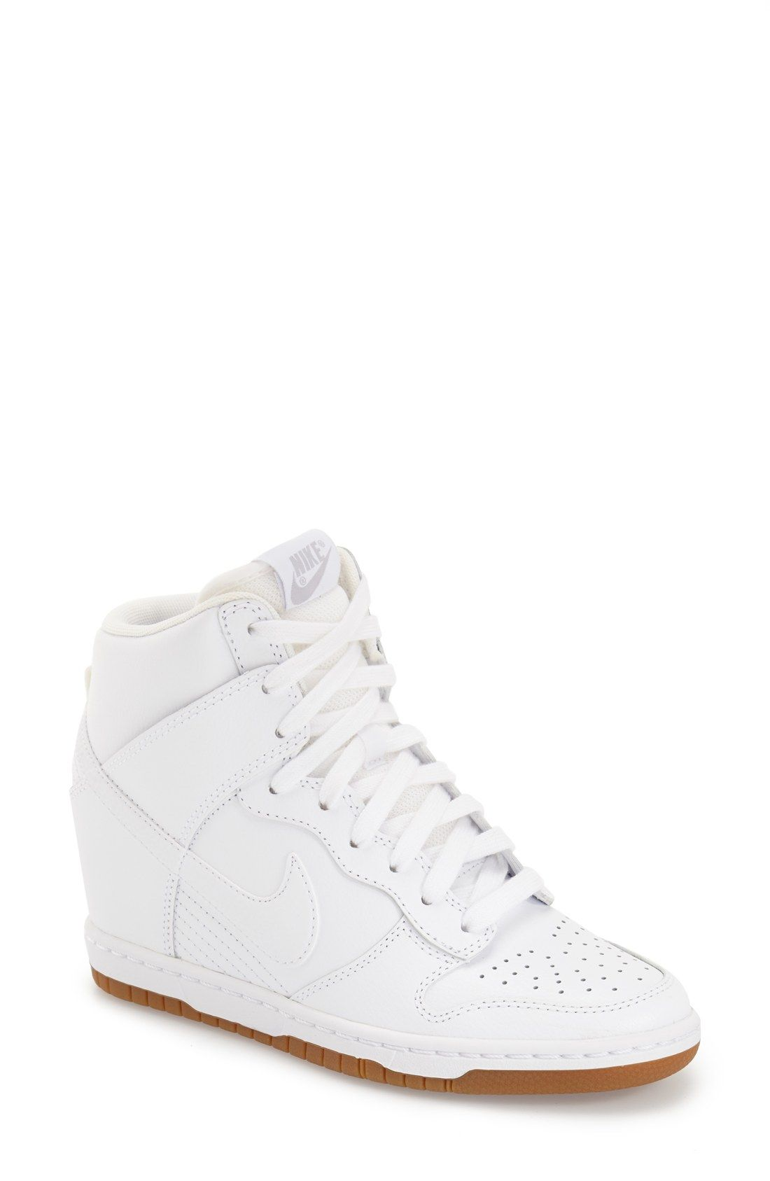 Nike Dunk Sky Hi - Essential Wedge Sneaker in White ...