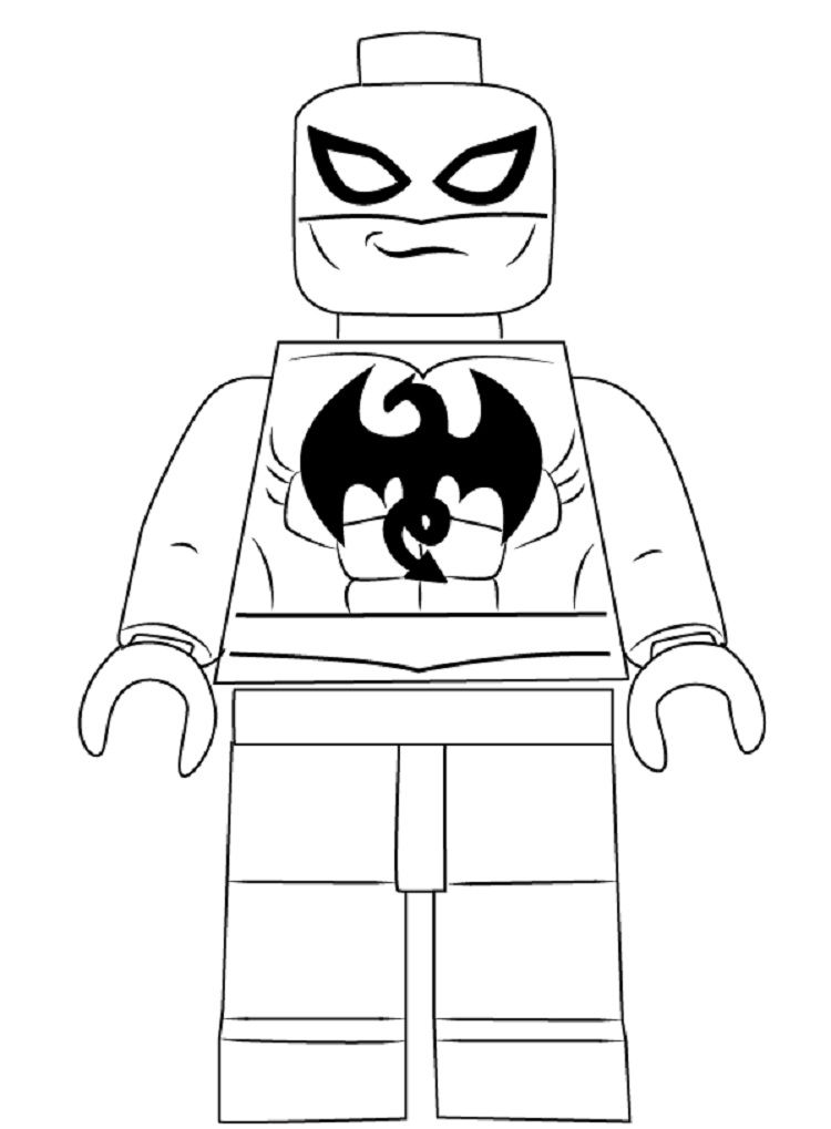 Lego Iron Fist Coloring Pages
