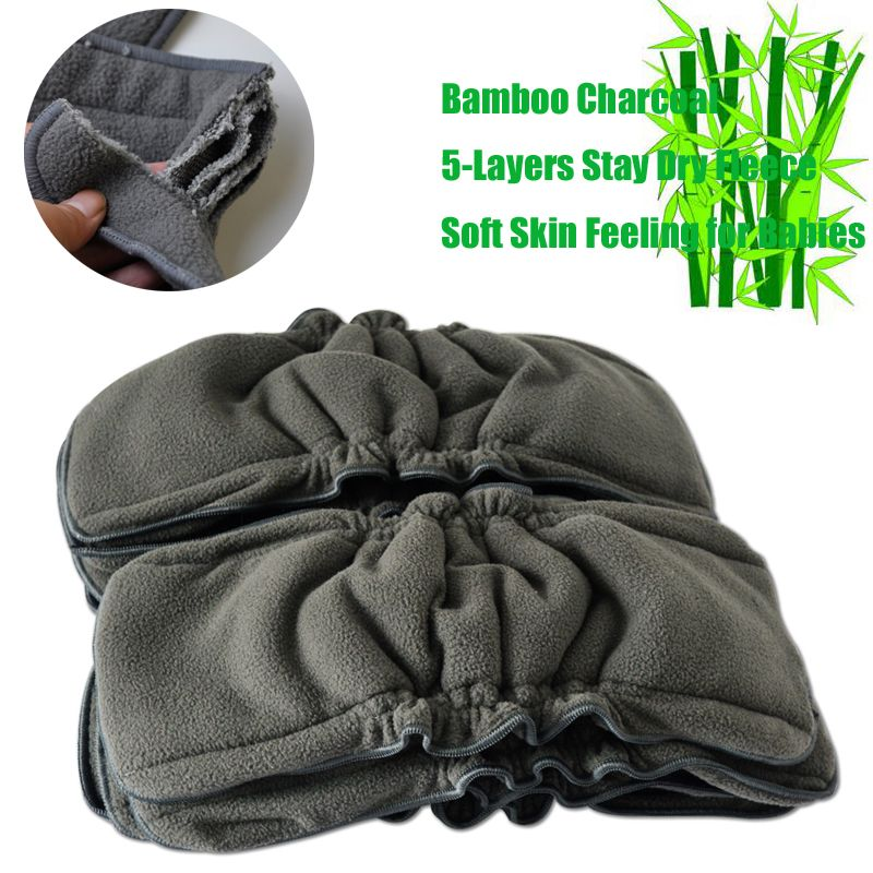 Super Absorbency Charcoal Bamboo Inserts Nappy Changing ...