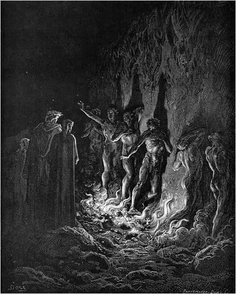 The absence of women in dantes inferno