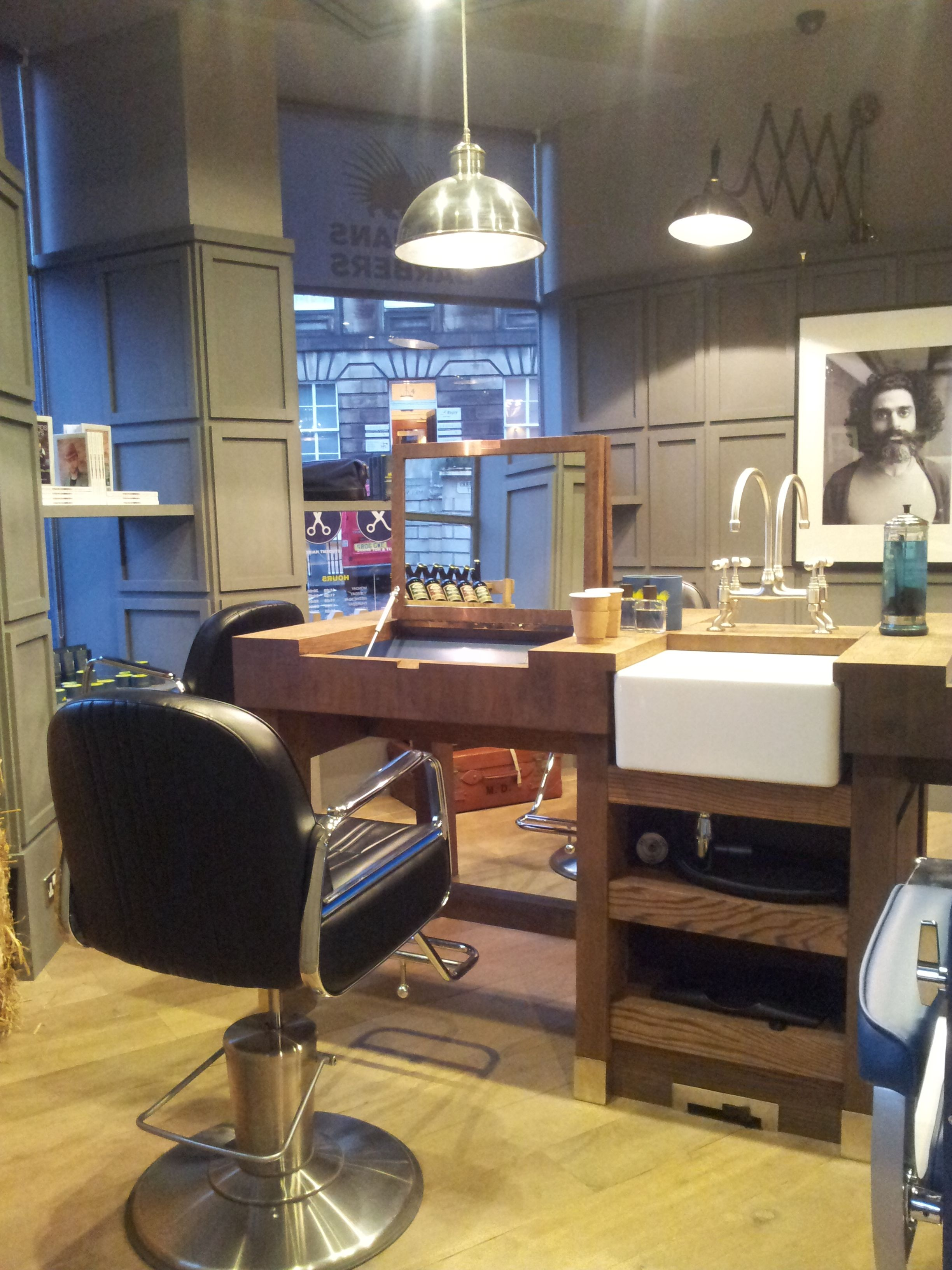 This is our client\'s modern barber shop in Edinburgh..Cool ...