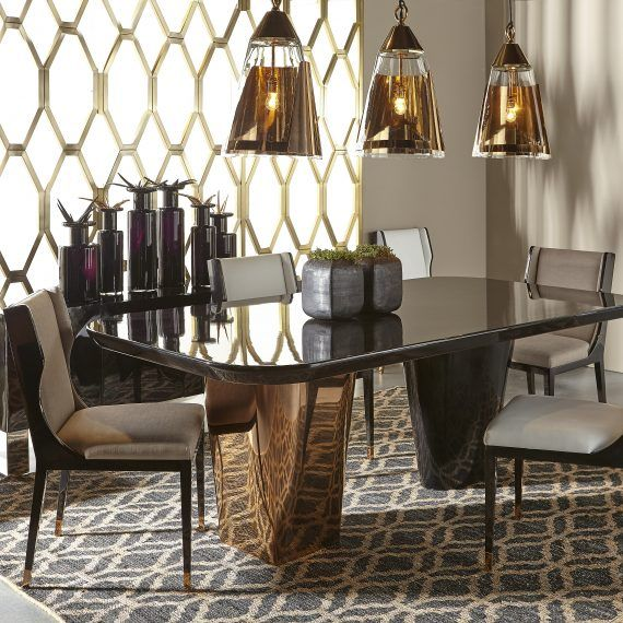 Interior Design   Dining Room By Kelly Hoppen | A Majestic Environment With  Top Design Chandeliers