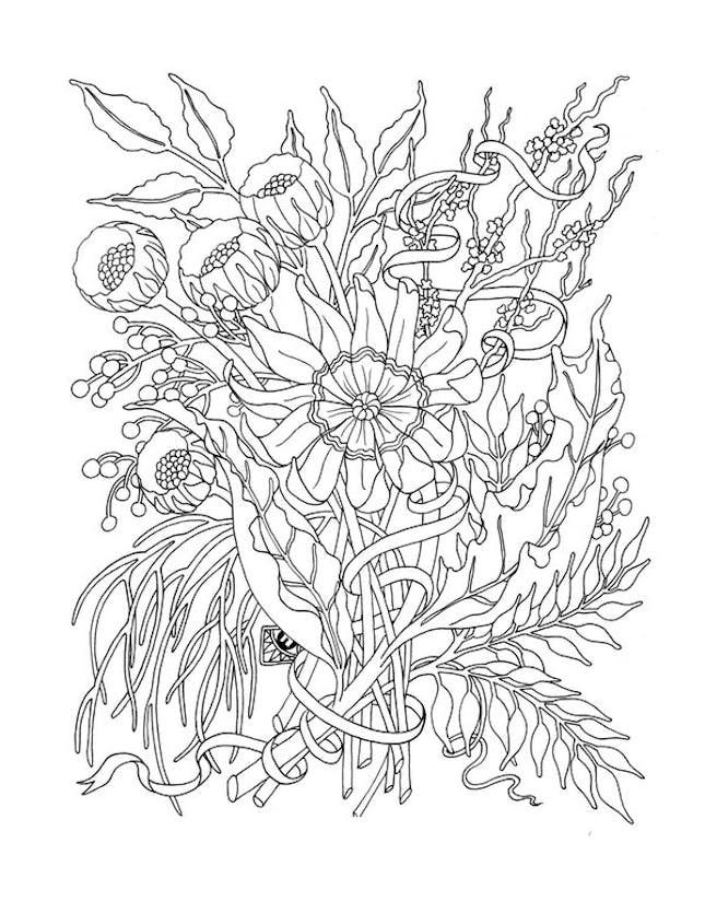 5 Free Coloring Printables Because Coloring Is The New Meditation Via Brit Co Printable Flower Coloring Pages Flower Coloring Pages Coloring Pages