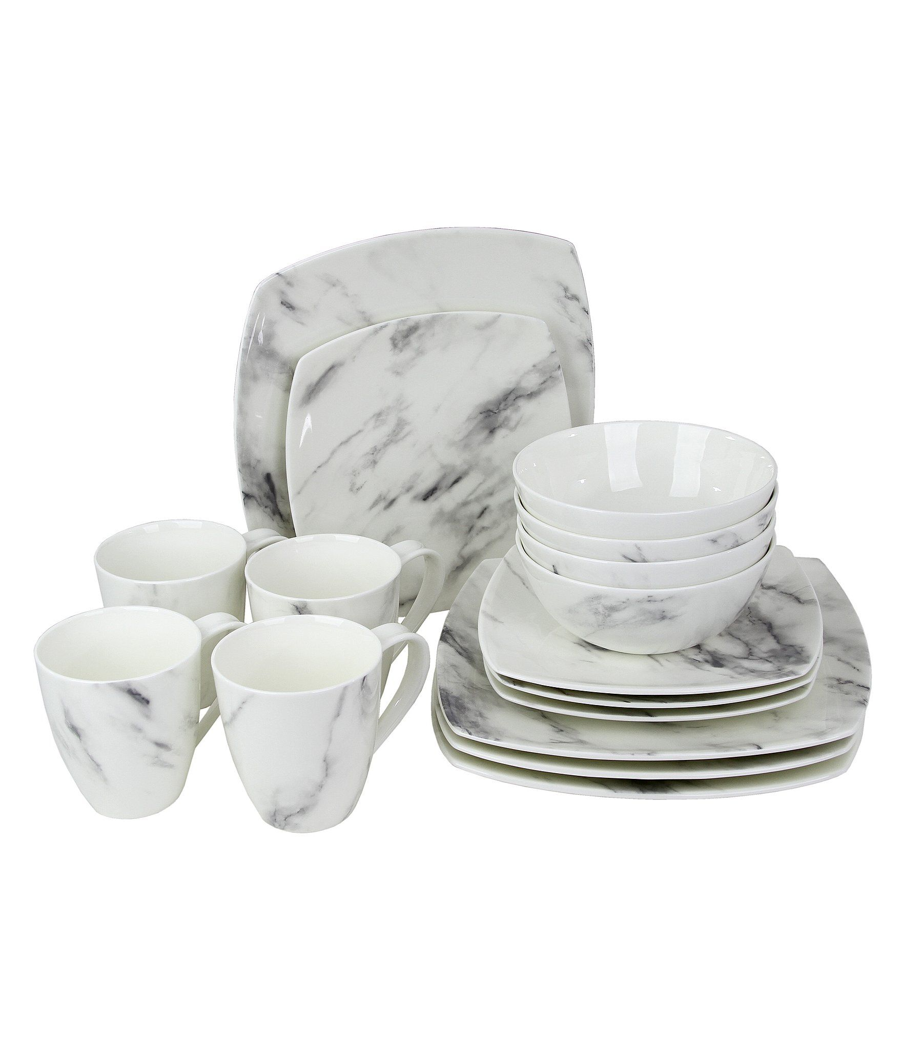 Oneida Moda Couture Square 16piece Dinnerware Set Dillards