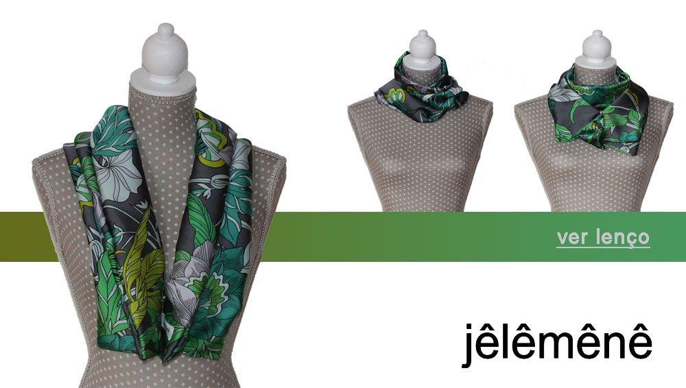 Short Scarf / Lenço Curto Verde (possível usar de várias formas)