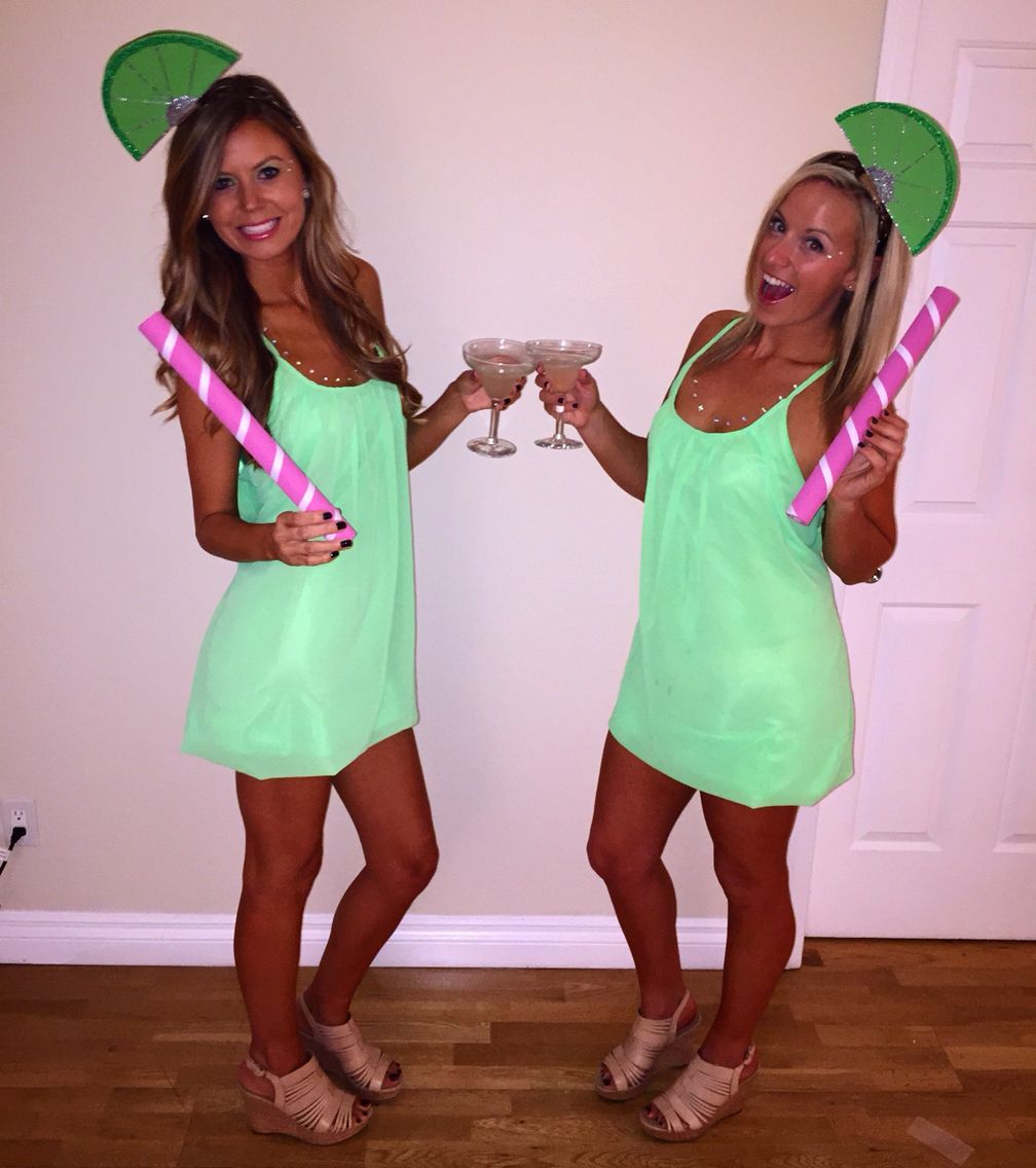 diy margarita with lime halloween costume - Creative Halloween Costume Idea