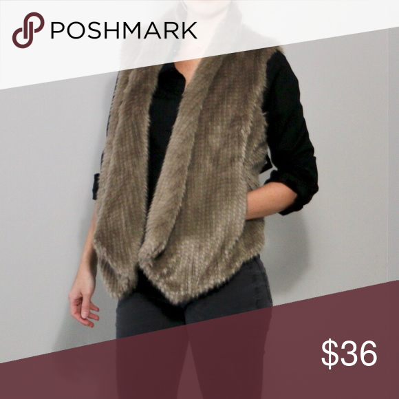 495e25f1e43f NWT Express Faux Fur Vest NWT Light brown faux fur vest. Hand pockets and  lined. So soft and perfect for layering! 67% modacrylic 33% Polyester  Express ...