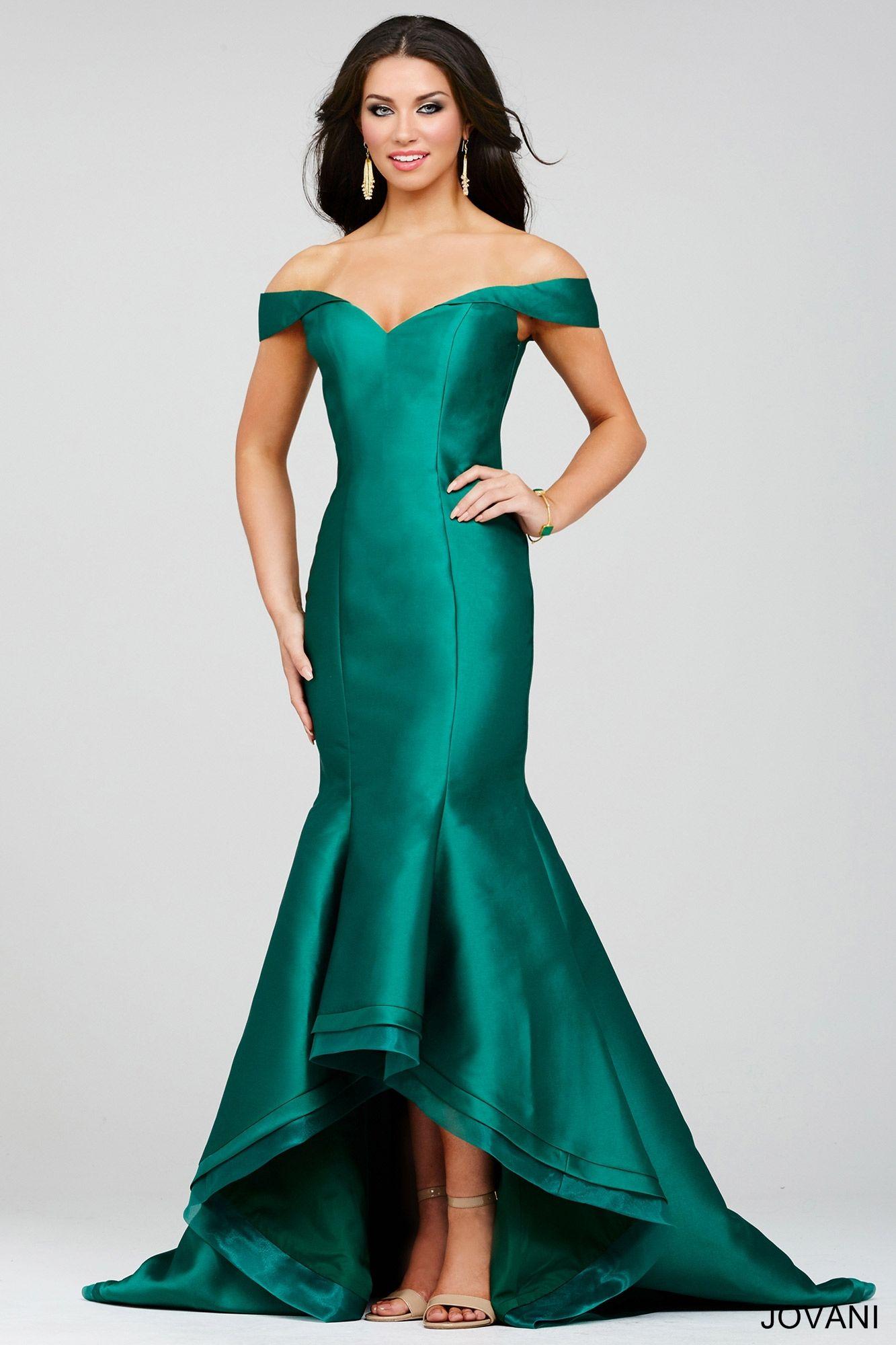 Green Satin Dress 32414 | Beau and Deb | Pinterest | Green satin ...