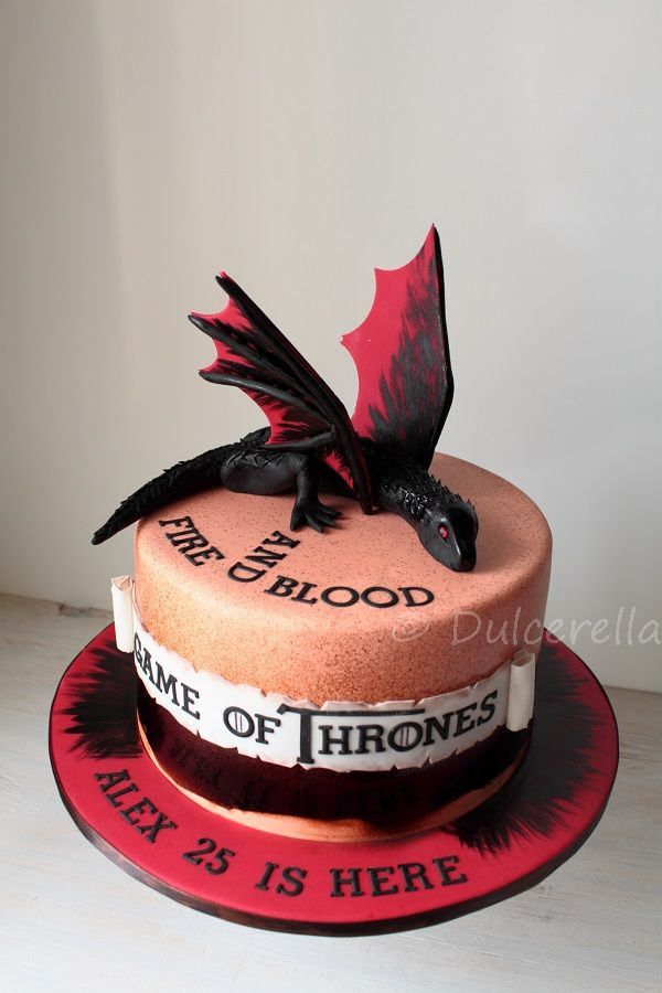 Game Of Thrones Cake With Drogon Gaming Cake And Birthday Cakes